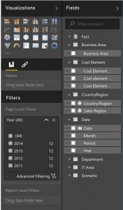 PowerBI field editor